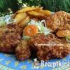 Vasi pecsenye fűszeres burgonyával