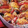 Mediterrán zöldséges csirkecombok