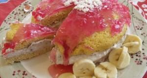 Banán krémes mini torta