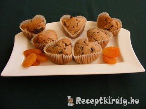 Barackos csokoládés muffin