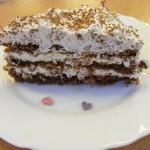 Bounty torta szelet