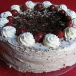 Csokoládés fekete erdő torta 2