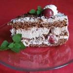 Csokoládés fekete erdő torta 3