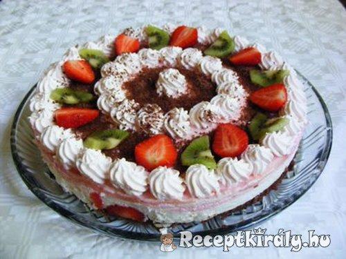 Epres tejszines joghurt torta 4