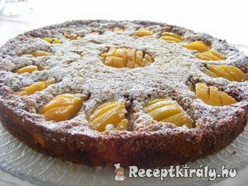 Fahéjas sütemény őszibarackkal