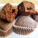 Málnalekvár muffin 1