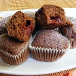Málnalekvár muffin