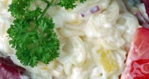Majonézes zöldséges tésztasaláta