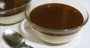 Panna cotta csokoládé öntettel