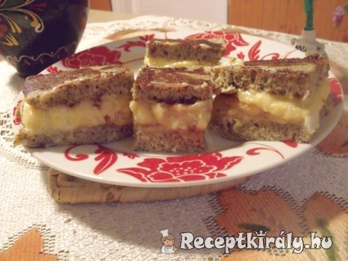 Robbanós krémes mákos sütemény