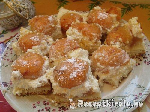 Sárgabarackos túrós sütemény
