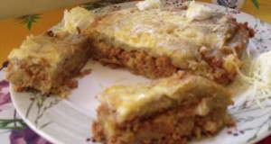 Tócsni lasagne módra