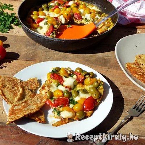 omlett zabpelyhes lángossal