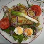 Avokádós salátatál 1