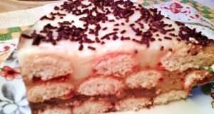 Babapiskótás torta