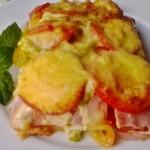Baconös sonkás pizza tepsiben sütve 1