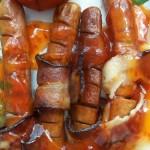 Baconös virsli sajtos spárga petrezselymes újkrumplival 3
