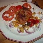 Baconba tekert töltött krumpli 1