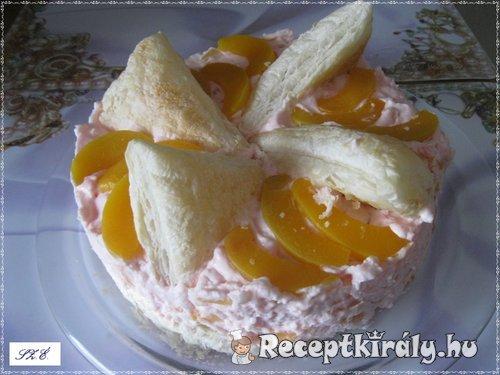 Barackos rizses tejszínhabos torta 4