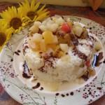 Borított trópusi gyümölcsrizs keksszel 1