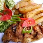 Borsos csirkecomb vele sült burgonyával 1