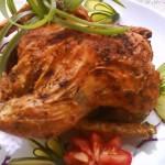 Chilis citromos csirke egészben sütve