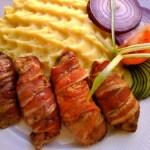 Csípős csirkemáj bacon köntösben 1