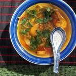 Csípős garnéla leves 1