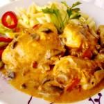 Csirkepaprikás gombával 1