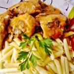 Csirkepaprikás gombával