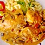 Csirkepaprikás gombával 2