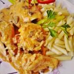 Csirkepaprikás gombával 3