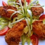 Csirkeszárnyak burgonyapehelyben 1