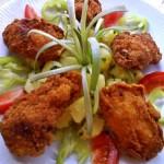 Csirkeszárnyak burgonyapehelyben 2