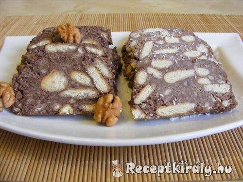 Diós keksz szalámi 3