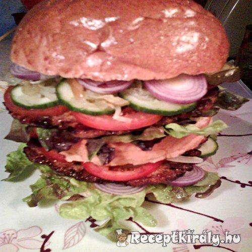 Dupla csirkeburger 1