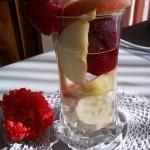Epres gyümölcspohár vodkával 1
