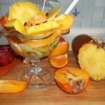 Exotikus gyümölcssaláta vodkával 2