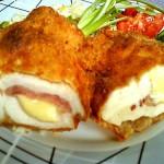 Füstölt sajtos sonkás baconös töltött csirkemell 2