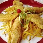 Fűszeres csirkemell csíkok burgonyás bundában 1