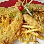 Fűszeres csirkemell csíkok burgonyás bundában 2