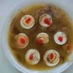 Fehérboros cukkini krémleves tojással lazaccal 1