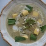 Fehérboros sajtos medvehagyma krémleves 1