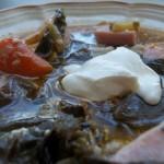 Fehérboros tejszínes karalábélevél leves sonkával 1