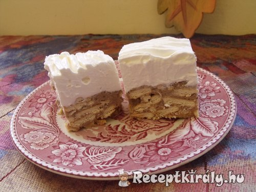 Gesztenyés kekszes sütés nékül