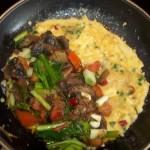 Gombás medvehagymás paradicsomos omlett 1