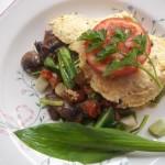 Gombás medvehagymás paradicsomos omlett 2