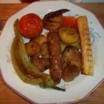Grillezett kolbász és zöldségek 1