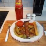 Grillezett kolbász és zöldségek 2