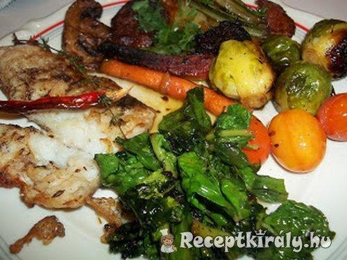 Grillezett pangasius édeskrumplival zöldségekkel 1